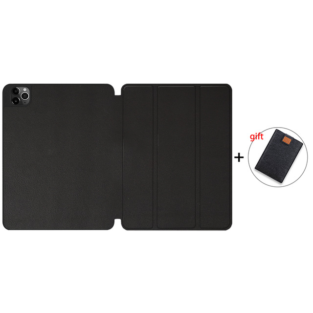 Black TPU Camel MTT Case For iPad Pro 12 9 inch 4th Generation Tablet 2020 Soft TPU PU Leather