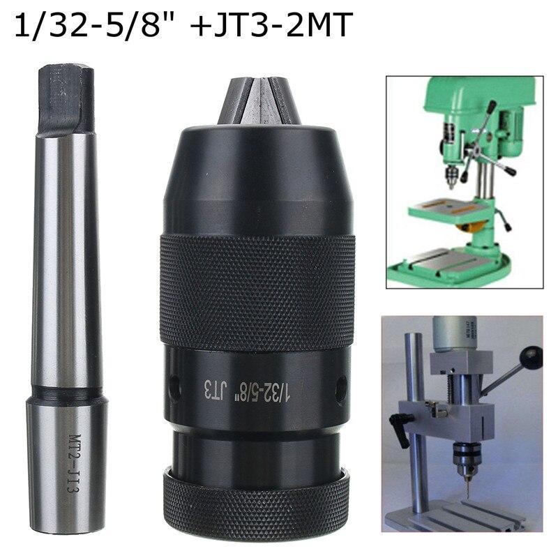 1 32 5 8inch JT3 Pro-Series Keyless Drill Chuck  amp  JT3-MT2 Straight Shank Arbor CNC Hole Saw For CNC Lathe Milling Drill Press