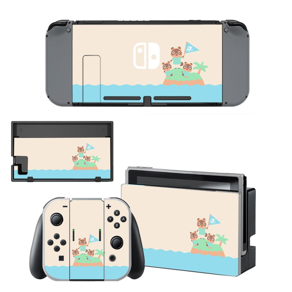 Animal Crossing Skin Sticker Vinyl For Nintendo Switch Screen Protector Sticker Skin NS Console And Joy-Con Controllers Stickers