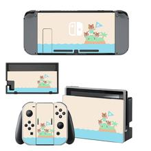 Animal Crossing Skin Sticker vinyl for Nintendo Switch Screen Protector sticker skin NS Console and Joy Con Controllers Stickers