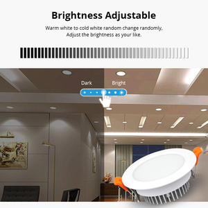 Image 4 - مصباح سقفي ذكي 12 واط زيجبي 3.0 RGBW Led متوافق مع إضاءة سقفية ذكية