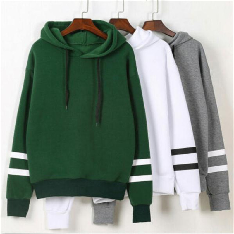 Hot Sell Stylish 2019 Womens Long Sleeve Hoodie Women Sweatshirt Jumper Hooded Pullovers Casual Loose Leisure Tops Pullover New