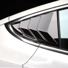 2 uds coche ventanilla trasera de triángulo etiqueta Exterior de fibra de carbono de la etiqueta engomada del obturador decoración modificado Accessrories para Tesla modelo 3
