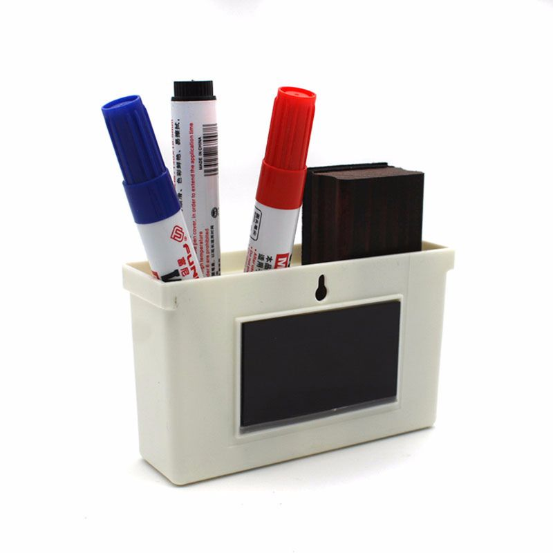 2019 New Magnetic Whiteboard Markers Pencil Pen Holder Organizer Storage Box Container