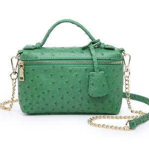 Image 3 - Factory Wholesales Ostrich Clutch Bag Leather Handbag Chain Leather Clutch Tote Shoulder Bag Eleagnt