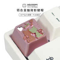 New arrival 1pc Holyoops Metal Personality Key Cap Cat Figure Aluminium Alloy Mechanical Keyboard Keycap For MX switches