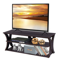 Costway 3 Tier TV Stand Entertainment Center Media Console Furniture Storage Cabinet HW54017