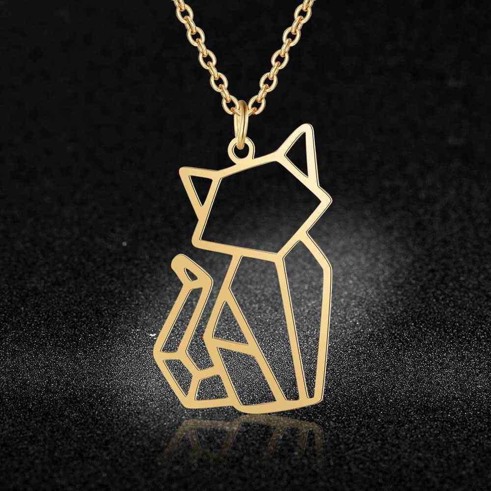 Unikatowe zwierzęce naszyjniki biżuteria dla kobiet 100% ze stali nierdzewnej super moda kot pies Panda małpa naszyjnik specjalny prezent