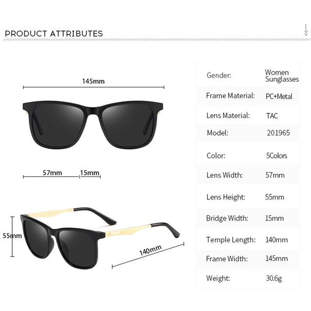 2020 Fashion Retro Women's HD Polarized Sunglasses UV400 Protection Square Anti-glare Driving Sun Glasses for Men 4