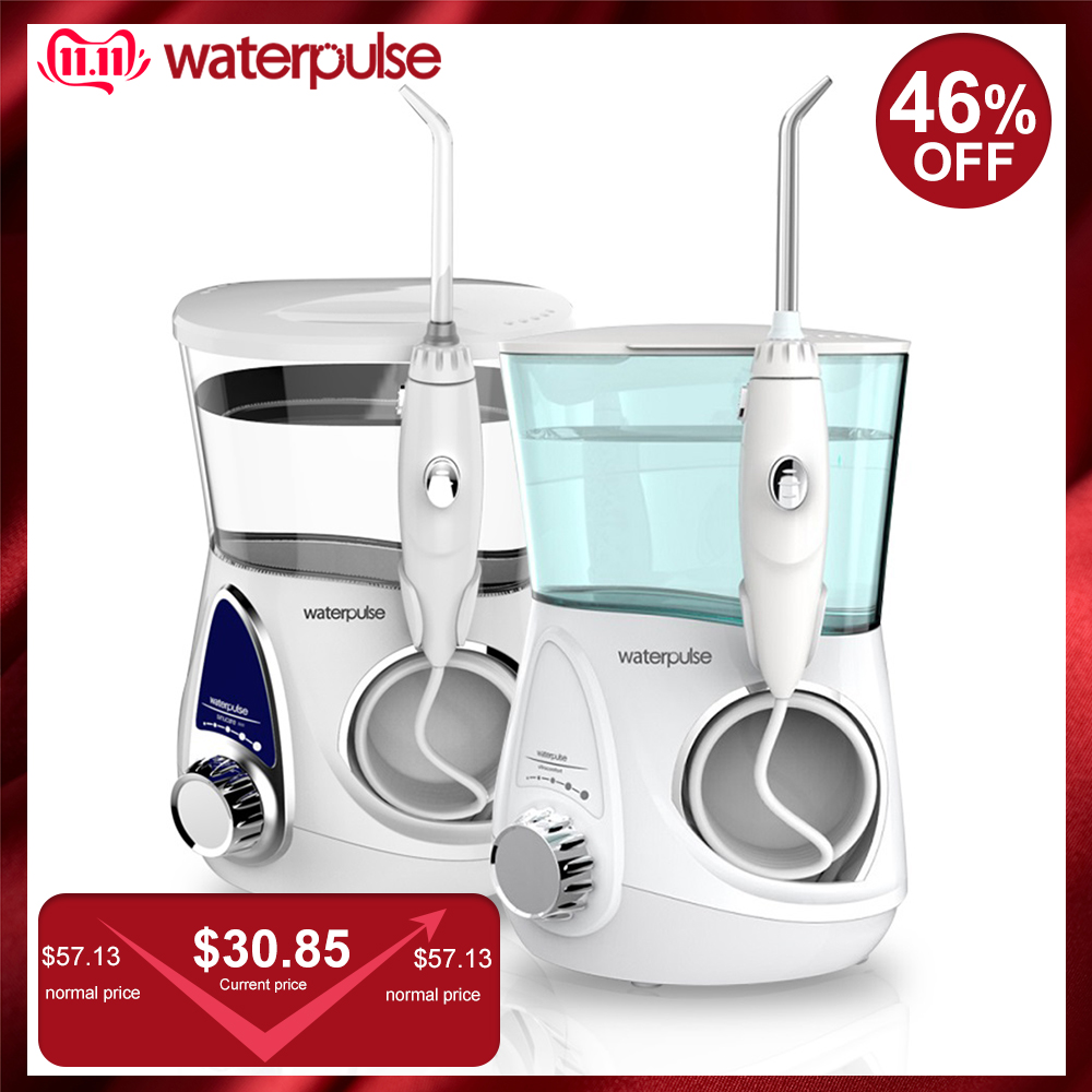 Waterpulse V600G Dental Flosser Oral Irrigator Water Flosser With 5 Nozzles Oral Hygiene 700ML Capcity Dental Care Teeth Cleaner