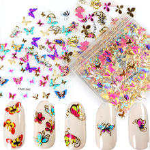 30pcs Colorful Butterfly Nail Decals Stickers Love Bows Rose Kiss Manicure Foils Geometric Slider Nail Art Adhesive Decoration