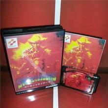 Sunset Riders Giappone Copertura con Scatola e Manuale Per Sega Megadrive Genesis Video Console di Gioco 16 bit MD carta