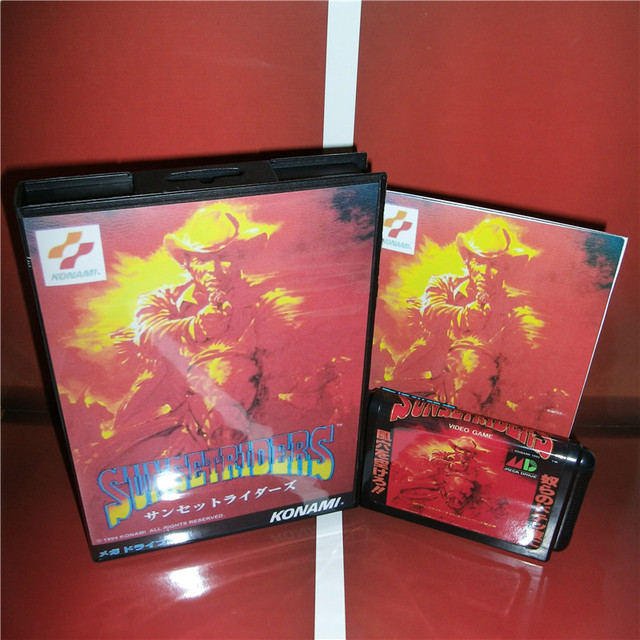 Zonsondergang Ruiters Japan Cover Met Doos En Handleiding Voor Sega Megadrive Genesis Video Game Console 16 Bit Md Kaart