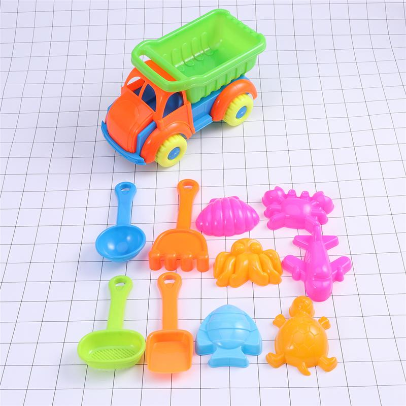 11pcs Children Beach Toys Plastic Bathing Playing Sand Dredging Kids Beach Game Toy Set