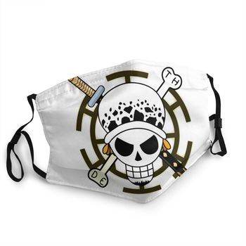 Mascarilla reutilizable de la Bandera de Trafalgar Law One Piece Mascarillas de Anime Mascarillas de One piece Merchandising de One Piece