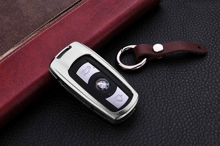 Чехол для автомобильного ключа из алюминиевого сплава для BMW X1 X5 3 5 Series E90 E91 E92 E60 силиконовый чехол для автомобильного ключа с дистанционным управлением чехол автомобильный аксессуар