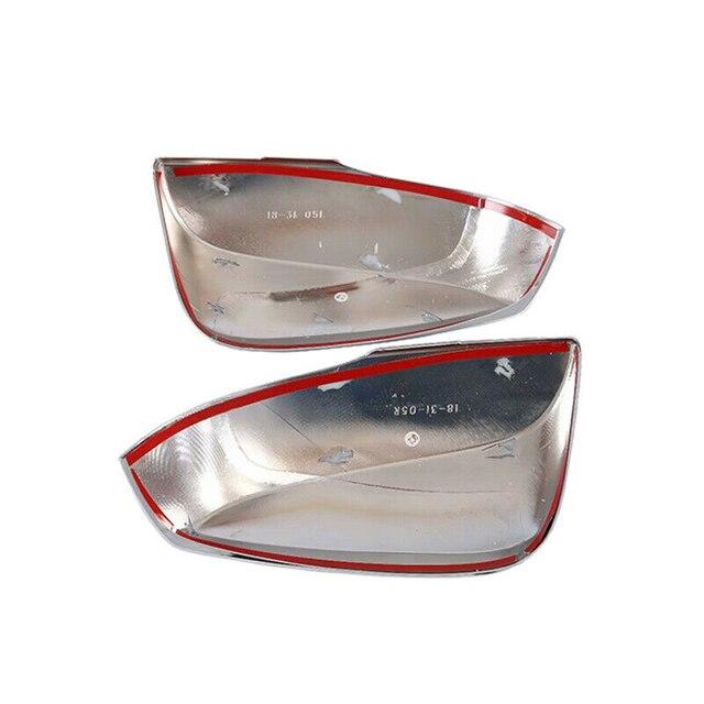 2 قطعة سيارة كروم فضي الجانب مرآة الرؤية الخلفية غطاء الكسوة لتويوتا RAV4 2019 2020