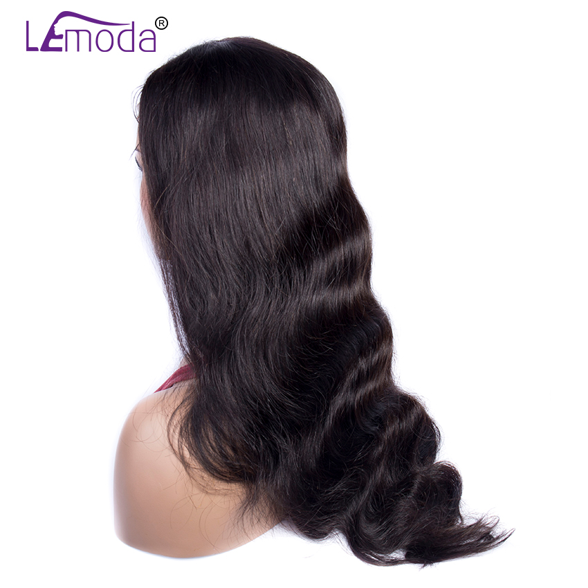 Hf50d17e6e7584225acbeb3584bf7902dI 26 Inch Body Wave Wig Malaysian 4x4 Closure Wig Preplucked Natural Human Hair High Ratio Lemoda 150% Remy Hair Lace Closure Wig