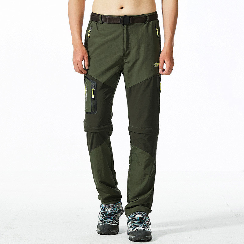 Men Casual Quick Dry Pants Elastic Breathable Waterproof Tourism Trousers Plus Size 5XL Tactical Cargo Lightweight Pants Men