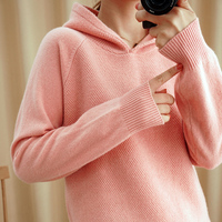 MVLYFLRT Spring and Autumn New Woman Loose Pullover Korean Knit Sweater Base 100% Pure Wool Sweater