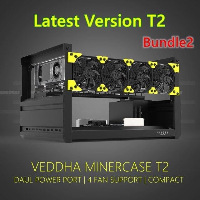 VEDDHA 6 GPU установка для майнинга, алюминиевый Штабелируемый чехол на открытом воздухе, компьютер, установка для майнинга Bitcon, комплект для майнинга, несобранный эфириум 2