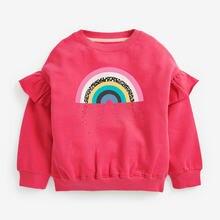 Весенние милые толстовки для маленьких девочек Радужный свитшот