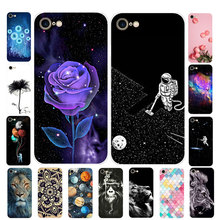 Etui na iPhone SE 2020 okładka silikonowa miękka TPU kwiat Funda na iPhone SE 2020 etui 4 7 #8222 Coque na iPhone SE 2 SE2 etui na telefony tanie tanio MEAFORD Fitted Case Cartoon Soft Silicone Case Apple iphone ów Przezroczysty Zwierząt Floral Odporna na brud Anti-knock