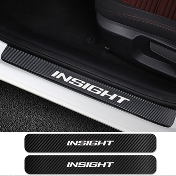 4PCS For Honda Insight Car Door Sills Scuff Pedal Cover Sticker Auto Scuff Plate Scratch Protector Decal Car Tuning Accessories 1