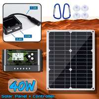 40W 18V Mono Solar Panel Dual 12V/5V DC USB Monocrystaline Flexible Solar Charger For Car RV Boat With 10/20/30A Controller
