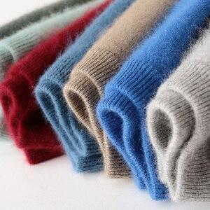 Image 2 - Zocept Winter Men sweter norek z kaszmiru swetry dla człowieka Casual O Neck Warm Fit odzież nowa odzież męska dzianinowy sweter topy