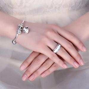 Image 3 - Jewelrypalace 925 Sterling Silver Pearlescent Heart Statement Ring For Women Trendy Jewerly Gifts For Best Friends New Hot Sale