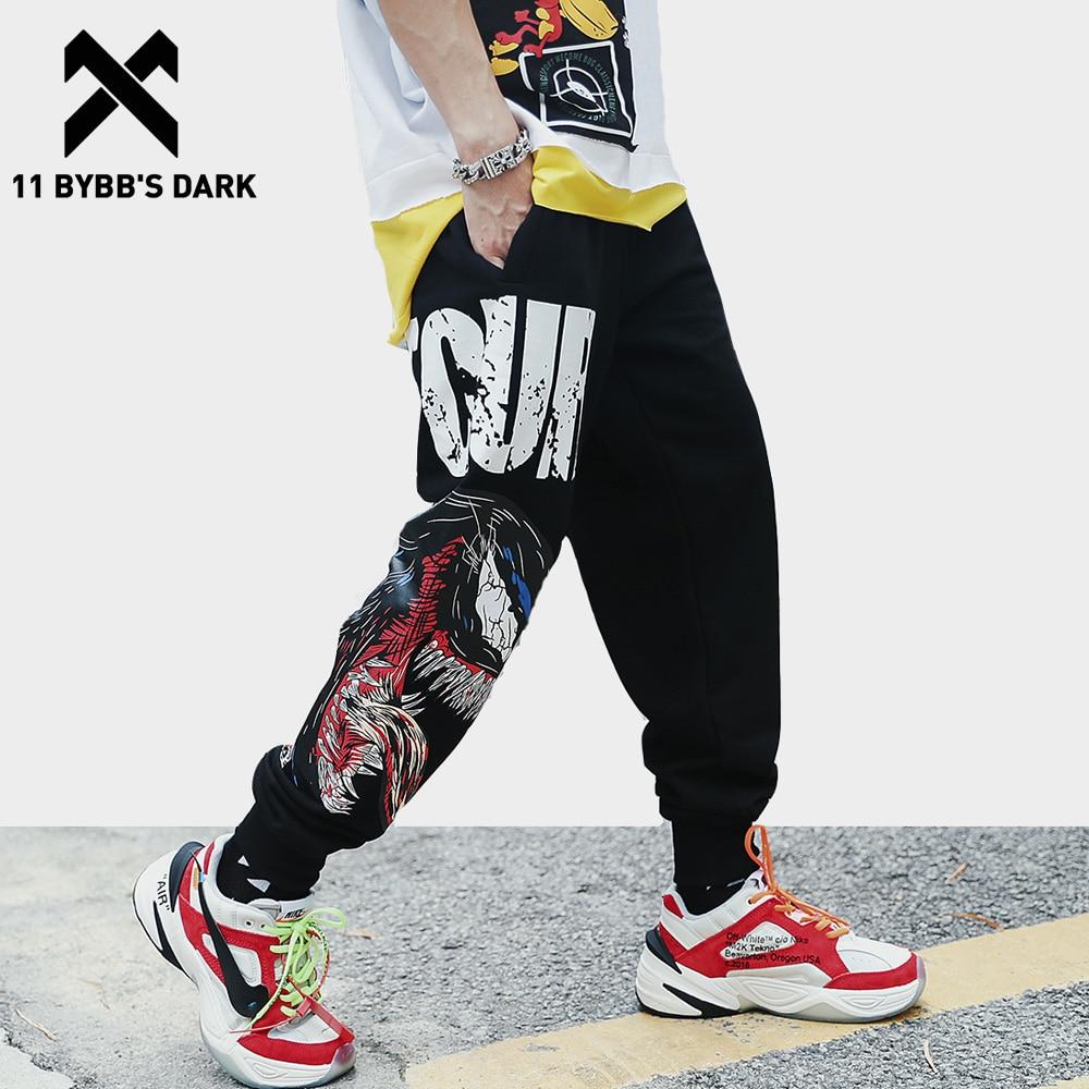 11 BYBB'S DARK Casual Pants Man 2019 Spring Animal 3d Print Fashion Joggers Harajuku Streetwear Hip Hop Black Sweatpants