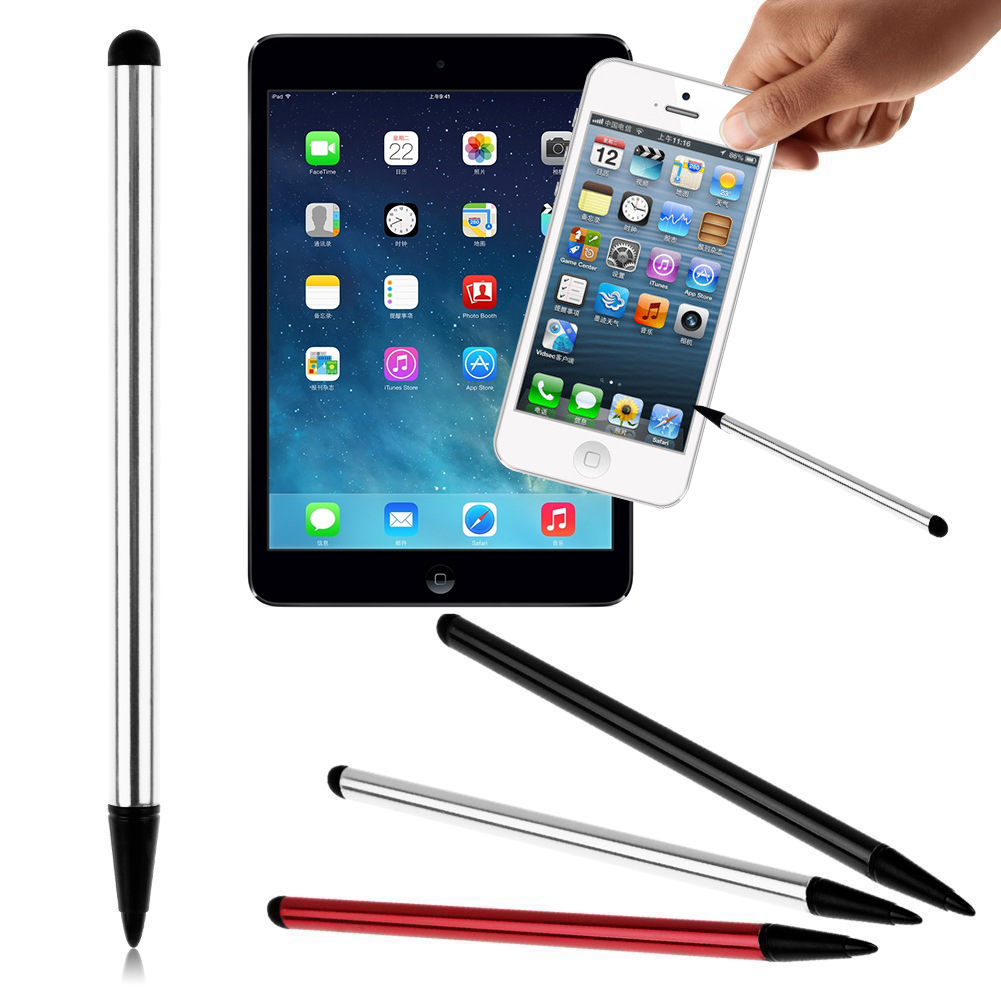 1PC 2 In 1 Capacitive Resistive Pen Touch Screen Stylus Pencil For Tablet IPad Cell Phone Samsung PC Stylus Capacitive Pen