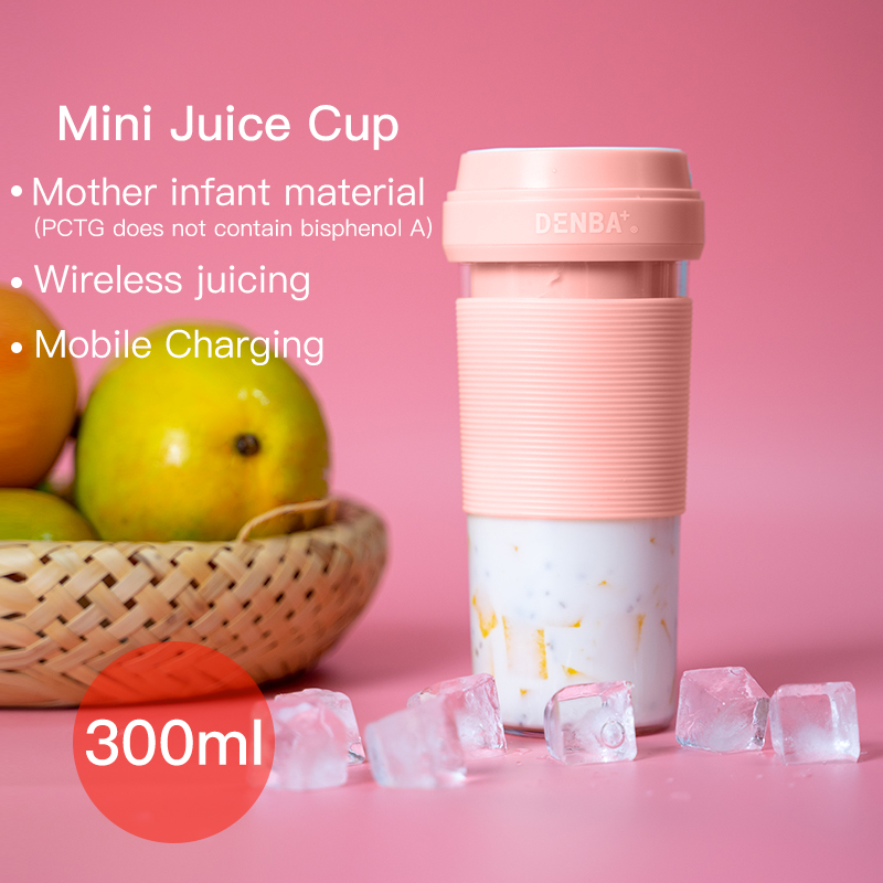 Image 3 - Portable fruit Juicer Blender Travel Personal USB Mixer Juice Cup with safe protection 300ML portable usb electric juicer-in Manual Juicers from Home & Garden
