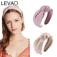 LEVAO Satin Solid Headbands knotted Wide Size Hairbands New
