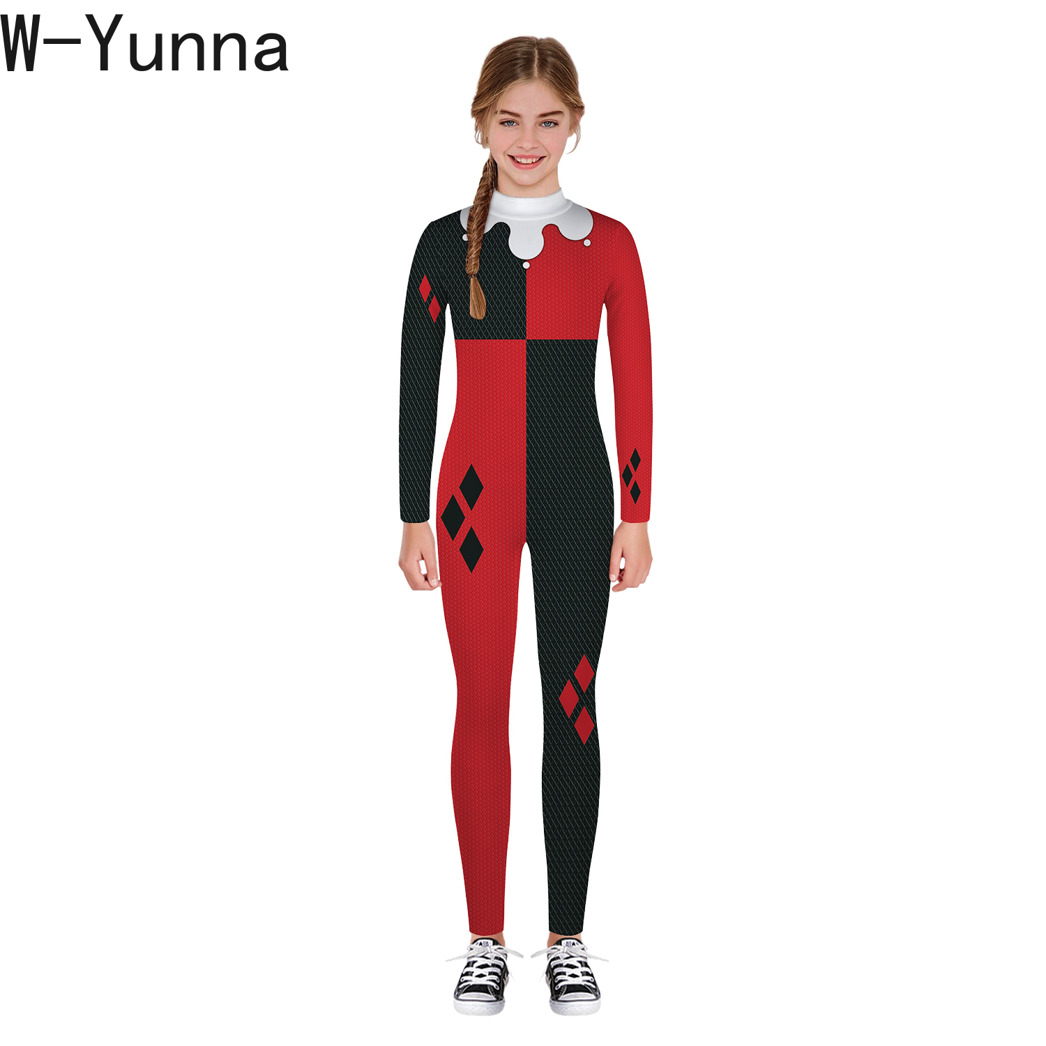 Image 3 - W Yunna 2019 Autumn Clothes Fashion Skeleton Blood Scary Costume Holloween 3d Print Full Sleeves Full Length Jumpsuits for Kids