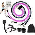 11 Piece Set Elastic Band Resistance Band Strength Training Men and Women Tension Fitness Band Home Workouts