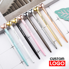 Love Shape Ballpoint Pen Metal Pen Creative Gift Advertising Pen Custom LOGO School&office Supplies Lettering Engraved Name new engraved name pen gold foil metal ball point pen custom logo company name writing stationery gift office school pen with box