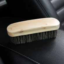 Auto Care Wooden Handle Detailing Cleaning Tools Car Wash Horsehair Brush Detail Clean Brush Auto Interior Cleaner