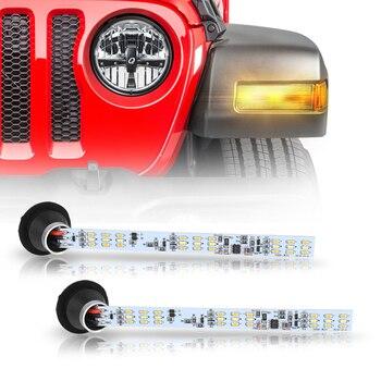 2 PCs LED Switchback Car Styling Daytime Running DRL Working Brake Warning Fog Lamp Light Yellow Turn Signal Indicator Lights