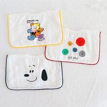 3pcs/lot Baby Bandana Bibs Burp Cloths Cartoon Saliva Towel Baby Boys Feeding Bibs Soft Cotton Absorbent Girl Shower Gift 0-2T
