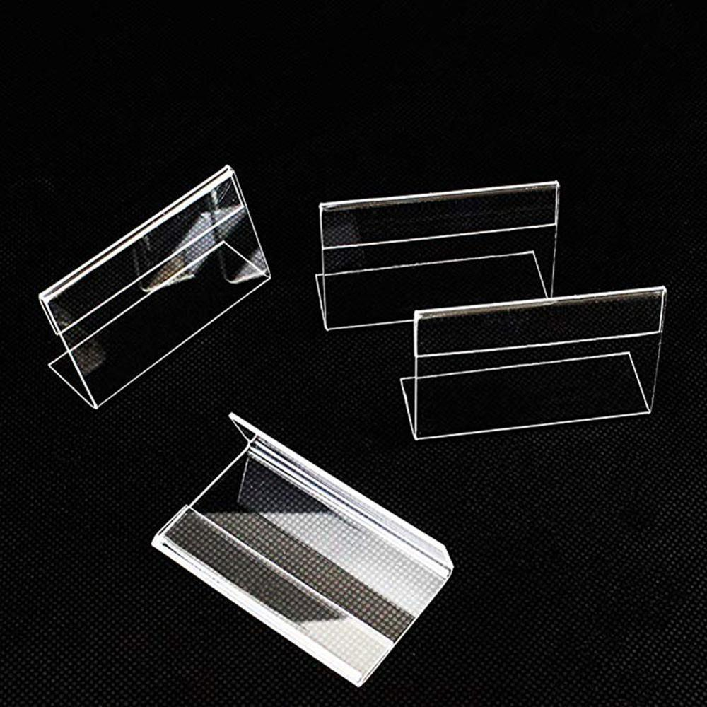 6pcs Acrylic T 1.5mm Clear Plastic Desk Sign Label Stand Acrylic Card Price Holder Holders Frame Label Tag Paper Display Fr O7S1
