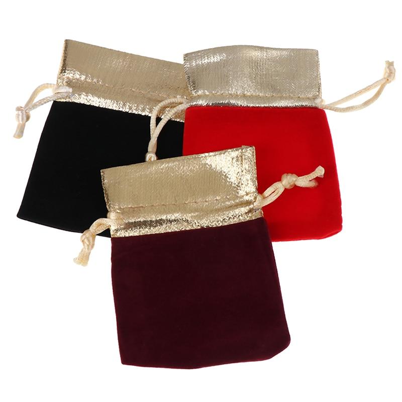 5pcs Drawstring Bags Jewelry Packaging Display Velvet Pouches Drawstring Packing Wedding Gift Bags 7x9cm 10x12cm 12x15cm