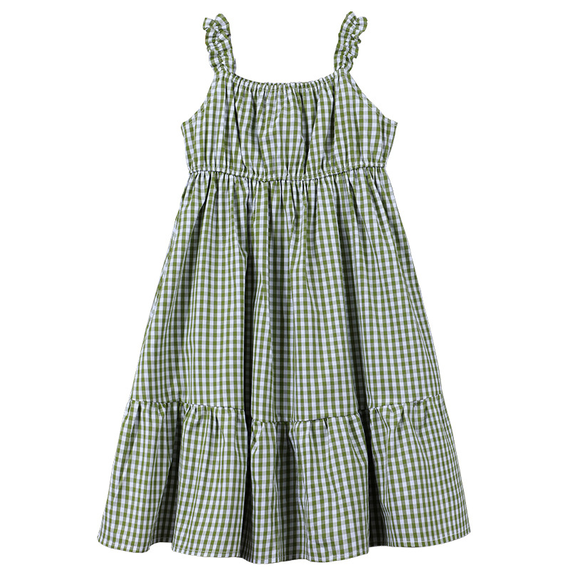New 2020 Summer Girls Strap Dress Kids Plaid Dresses For Girls  Baby Children Holiday Clothes Toddler Suspender Dress, #8404