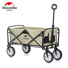 Naturehike 9.3kg Foldable Luggage Trolley Hollow Steal Pipie Double Layers 90L Large Capacity Shopping Trolley Fast Folding
