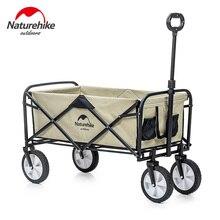 Naturehike 9.3kg מתקפל מזוודות עגלת חלול לגנוב Pipie כפול שכבות 90L גדול קיבולת קניות מהר עגלה מתקפל