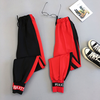 Spring Sport Cargo Pants Plus Size Letter Embroidery Pants Women High Waist Streetwear Cool Girl Harajuku Hip Hop Pants 1