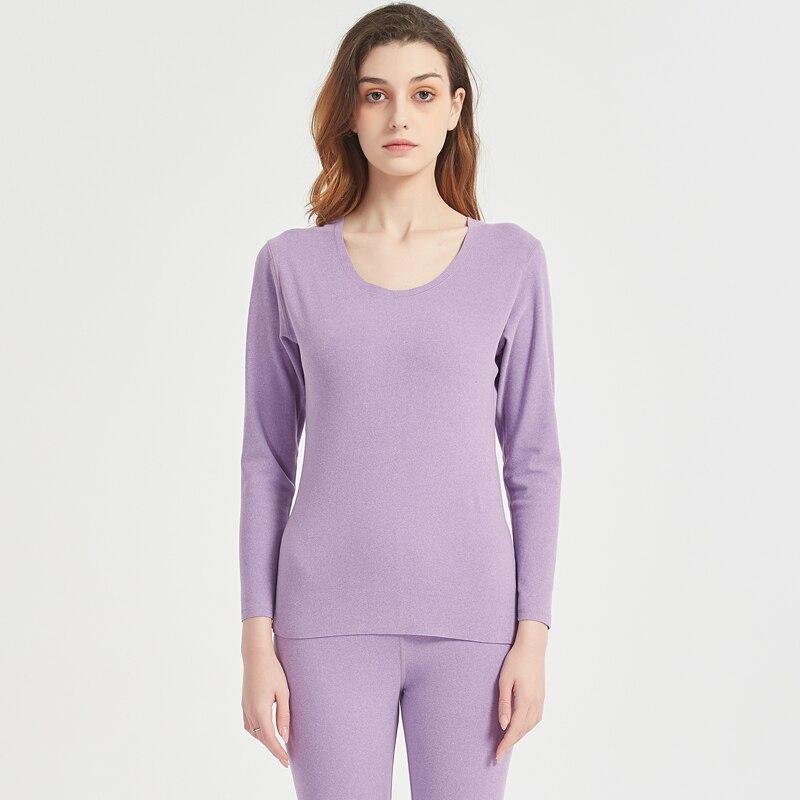 Winter Women Base Shirt Velvet Warm-keeping Underwear Set For Wholesale