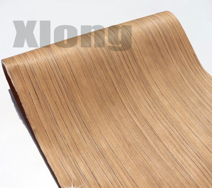 Length:2.5Meters Width:55mm Thickness:0.25mm Technological Teak Wood Veneer