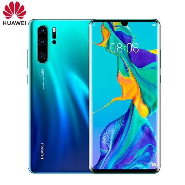 Huawei P30 Pro 8G + 256G téléphone Mobile Kirin 980 2.6GHz Android 9.1 6.47 ''OLED 2340X1080P IP68 NFC 5 caméras 40MP 50X Zoom numérique